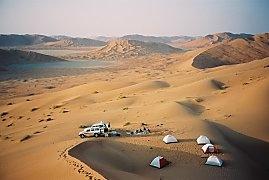 Camp in der Rub al-Khali, Oman