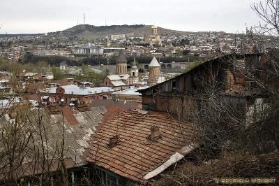 Blick auf Tbilisi