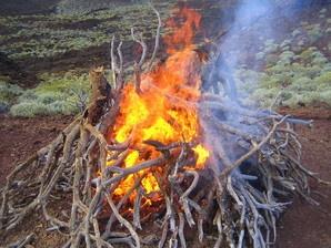 Feuerritual Lavawüste El Hierro