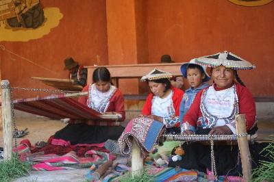 Kunsthandwerker in der Nähe von Cuzco.