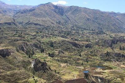 Colca Tal in der Nähe von Arequipa.