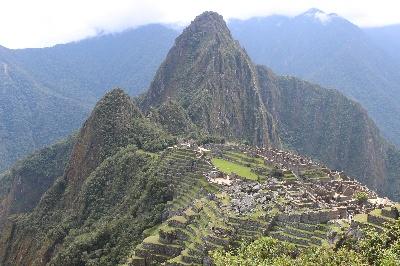 Die Zitadelle von Machu Picchu.